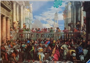 Ravensburger 2000 - Paolo Veronese : Marriage at Cana, 1562 (układane)