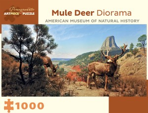 Pomegranate 1000 - Mule Deer Diorama - American Museum of Natural History