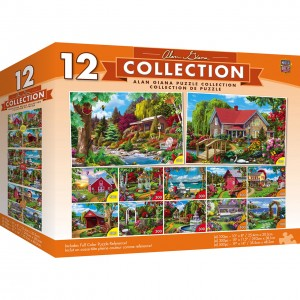 Master Pieces 12 x Puzzle - Alan Giana (4x500 + 4x300 + 4x100)