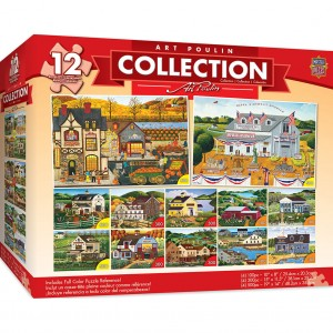 Master Pieces 12 x Puzzle - Art Poulin Collection (4x500 + 4x300 + 4x100)