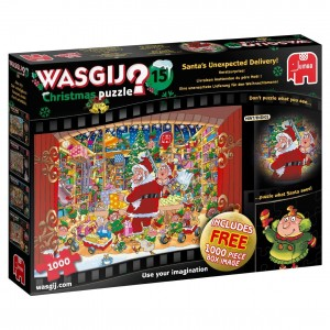 Jumbo 1000 x 2 - Wasgij Christmas 15 - Santa's Unexpected Delivery!