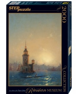 Step Puzzle 2000 - Russian Museum - Ivan Aivazovsky - View of Leandrovsk tower in Constantinople