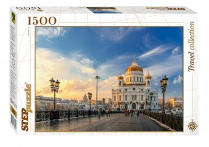 Step Puzzle 1500 - Cathedral of Christ the Saviour, Moscow
