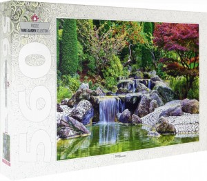 Step Puzzle 560 - Waterfall At Japanese Garden, Bonn, Germany