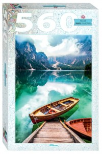 Step Puzzle 560 - Lake Prags in South Tyrol, Italy