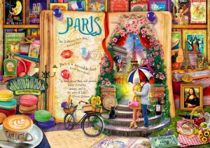 BlueBird Puzzle 1000 - Aimee Stewart,  Life is an Open Book Paris