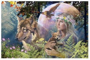 Ravensburger 3000 - Wolves in the Moonlight (Pani lasu)