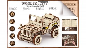 Wooden City Puzzle 3D - Jeep 4x4