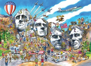 Cobble Hill 1000 - DoodleTown: Mount Rushmore