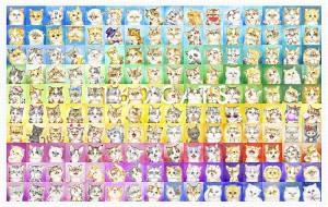 Pintoo 4000 - Plastic Puzzle - Kayomi - 160 Cats
