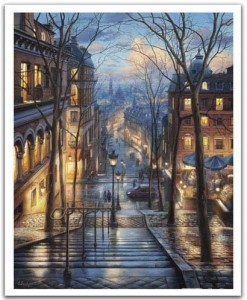 Pintoo 2000 - Plastic Puzzle - Evgeny Lushpin - Montmartre Spring
