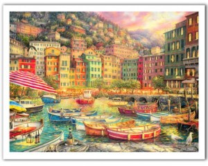 Pintoo 1200 Plastic Puzzle - Chuck Pinson - Vibrance of Italy