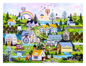 Pintoo 1200 Plastic Puzzle - Jane Wooster Scott - Somewhere Over the Rainbow