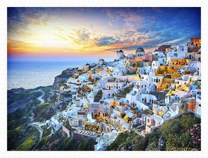 Pintoo 1200 Plastic Puzzle - Beautiful Sunset of Greece