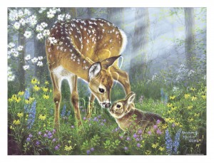 Pintoo 1200 Plastic Puzzle - Abraham Hunter - Forest Friends