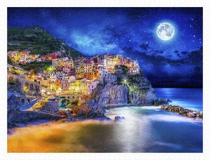 Pintoo 1200 Plastic Puzzle - Starry Night of Cinque Terre, Italy