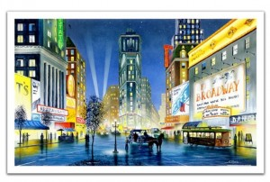 Pintoo 1000 Plastic Puzzle - Ken Shotwell - Night in New York