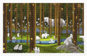Pintoo 1000 Plastic Puzzle - Polar Bears in the Forest