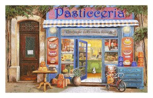 Pintoo 1000 Plastic Puzzle - Guido Borelli - Pastry Shop