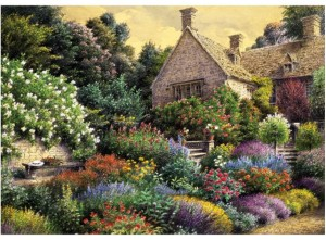 Art Puzzle 1500 - Cottage and Colorful Garden