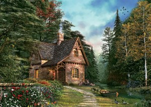 Art Puzzle 1500 - Woodland Cottage
