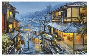Pintoo 4000 - Plastic Puzzle - Evgeny Lushpin - Old Kyoto