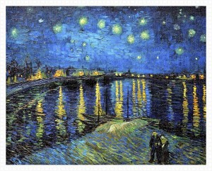 Pintoo 2000 - Plastic Puzzle - Vincent Van Gogh - Starry Night Over The Rhone, 1888