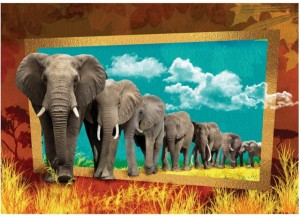 Art Puzzle 1000 - Elephants