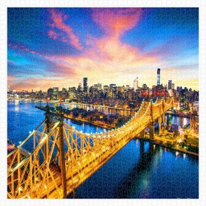 Pintoo 1600 - Plastic Puzzle - Manhattan with Queensboro Bridge, New York