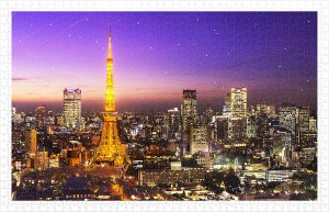 Pintoo 1000 Plastic Puzzle - Tokyo Tower, Japan