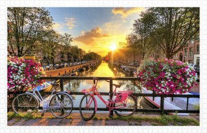 Pintoo 1000 Plastic Puzzle - Beautiful Sunrise Over Amsterdam