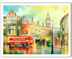 Pintoo 1200 Plastic Puzzle - Ken Shotwell - Morning in London