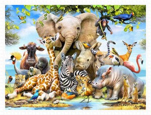 Pintoo 1200 Plastic Puzzle - Howard Robinson - Africa Smile