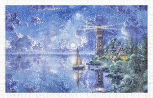 Pintoo 1000 Plastic Puzzle - Abraham Hunter - Light of Peace