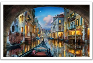 Pintoo 1000 Plastic Puzzle - Evgeny Lushpin - Love is in the Air