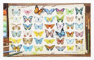 Pintoo 1000 Plastic Puzzle - Beautiful Butterflies