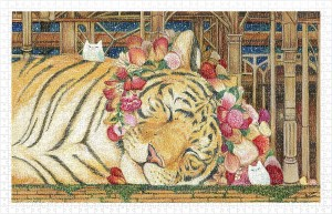 Pintoo 1000 Plastic Puzzle - Cotton Lion - Goodnight Tiger