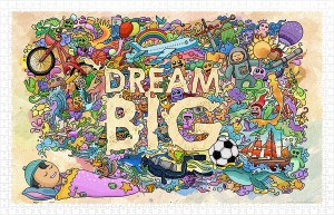Pintoo 1000 Plastic Puzzle - Dream Big
