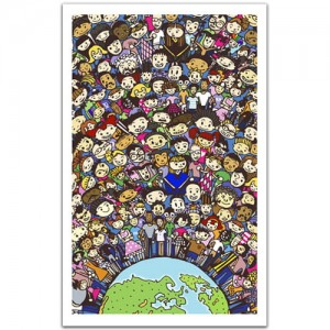 Pintoo 1000 Plastic Puzzle – One Earth, one family