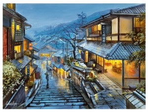 Pintoo 1200 Plastic Puzzle - Evgeny Lushpin - Old Kyoto