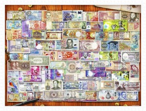 Pintoo 1200 Plastic Puzzle - Garry Walton - Currency of the World