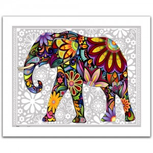 Pintoo  500 Plastic Puzzle - The enthusiastic elephant