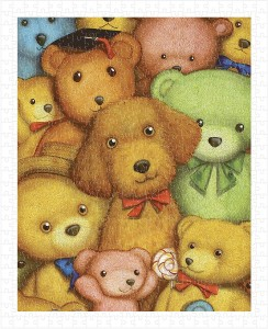 Pintoo  500 Plastic Puzzle - Smart - Poodle and Teddy Bears