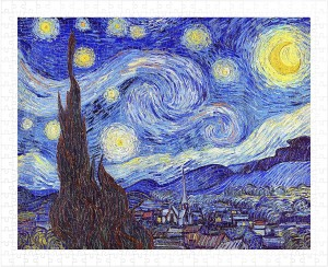 Pintoo  500 Plastic Puzzle - Vincent Van Gogh - The Starry Night, June 1889