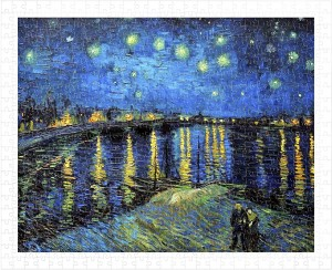 Pintoo  500 Plastic Puzzle - Vincent Van Gogh - Starry Night Over The Rhone, 1888