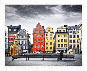 Pintoo  500 Plastic Puzzle - The Old Town of Stockholm, Sweden