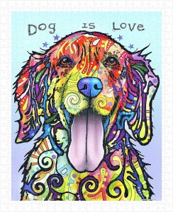 Pintoo  500 Plastic Puzzle - Dean Russo - Dog Is Love