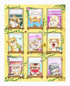 Pintoo  500 Plastic Puzzle - Kayomi - Kittens' Morning Routine
