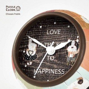 Pintoo 145 - 3D Puzzle Clock - Love is Key to Happiness