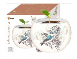 Pintoo 3D Puzzle 80 - Flower Pot - Singing Birds and Flowers